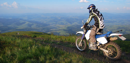 enduro rider on a Yamaha