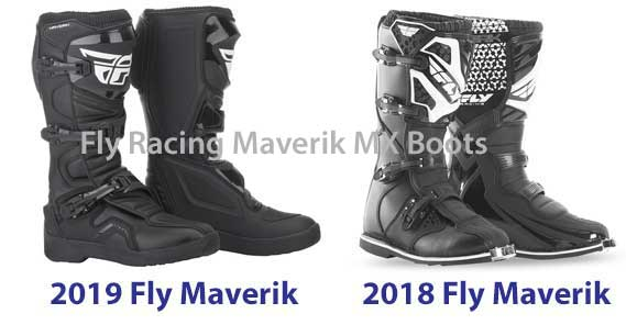 2019 Fly Maverik and 2018 Fly Maverik boots