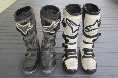 alpinestars teh 4 and Tech 3 motocross boots