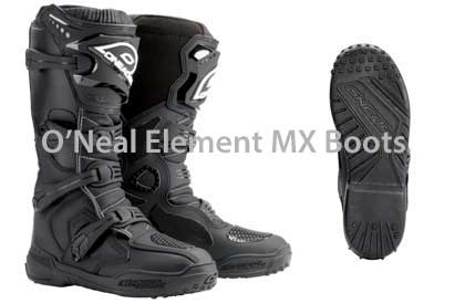 O'Neal Element motocross boots and sole