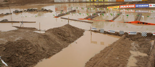 motocross track under water