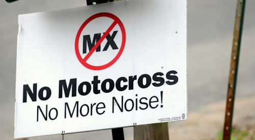 no motocross noise sign