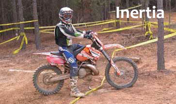 example of Newtons Law of Inertia  using a dirt bike