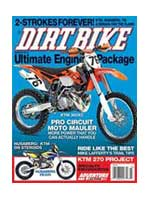 Dirt Bike magazin cover