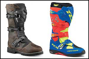 TCX enduro and MX boots