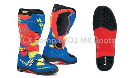 TCX Comp EVO motocross boots and Michelin® sole