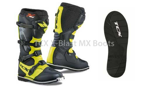 TCX X-Blast motocross boot and sole
