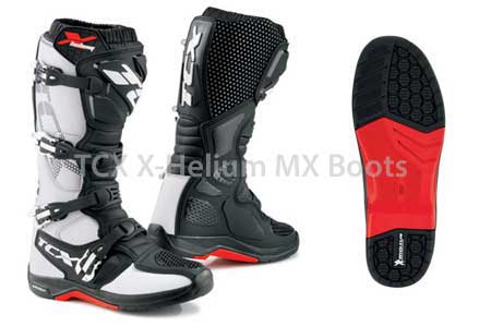 TCX X-Helium® motocross boots and Michelin sole