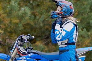 girl riding dirt bike